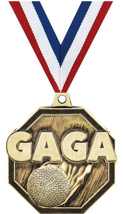 "2"" 3D GAGA MEDAL GOLD"