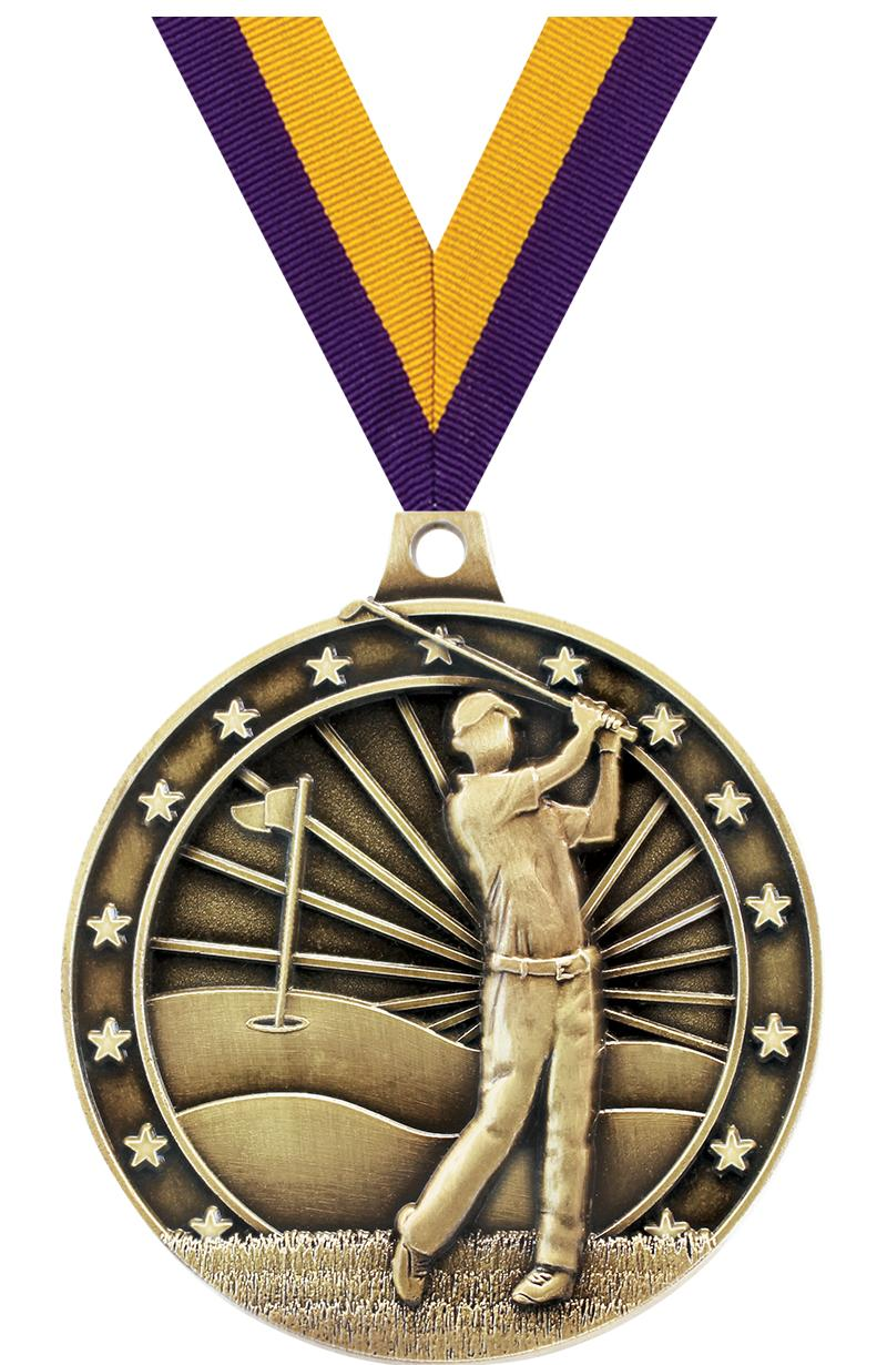 """2"""" Golfer Medal"""