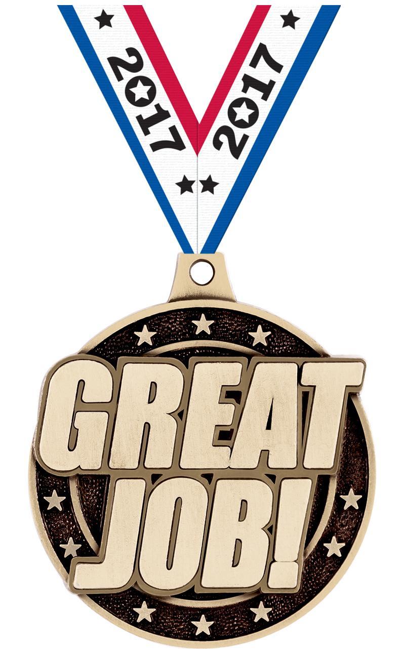 """2"""" Great Job! Medals"""