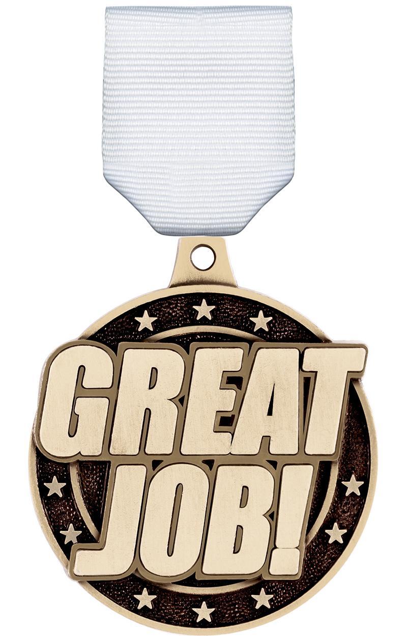 """2"""" 3D GREAT JOB! MEDAL GOLD"""