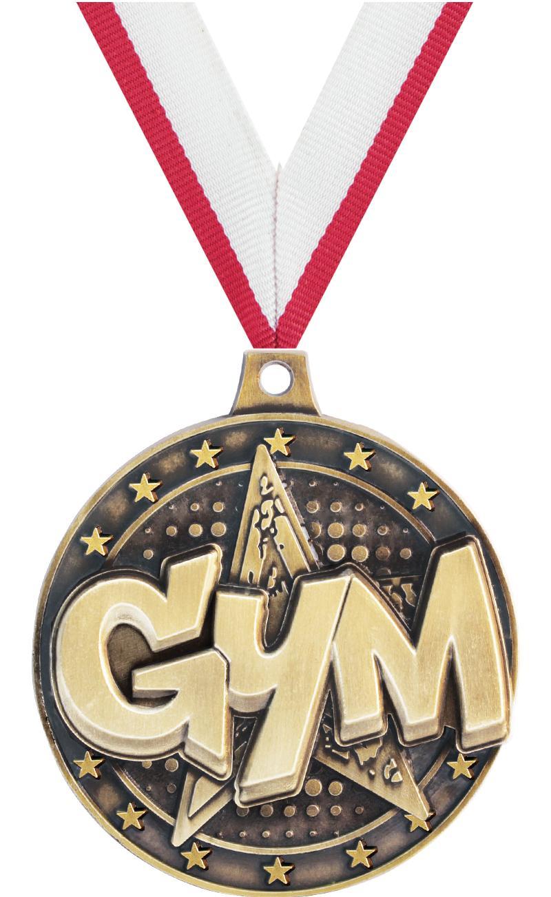"2"" Gymnastics Star Medals"