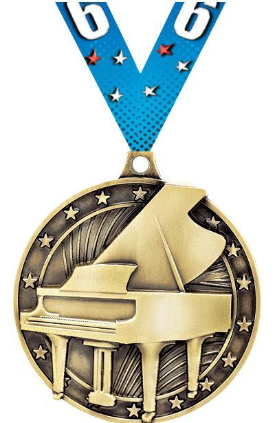 """2"""" 3D GRAND PIANO GOLD"""