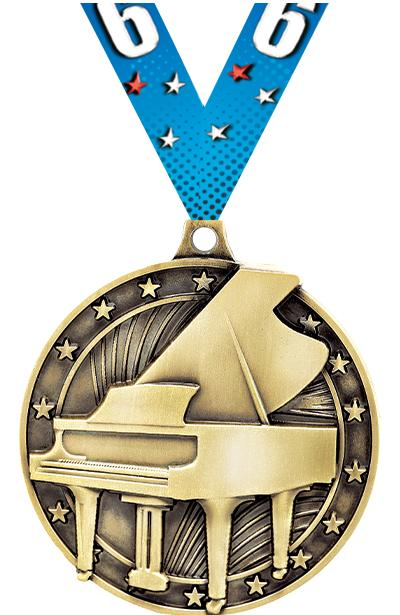 "2"" Grand Piano Medal"