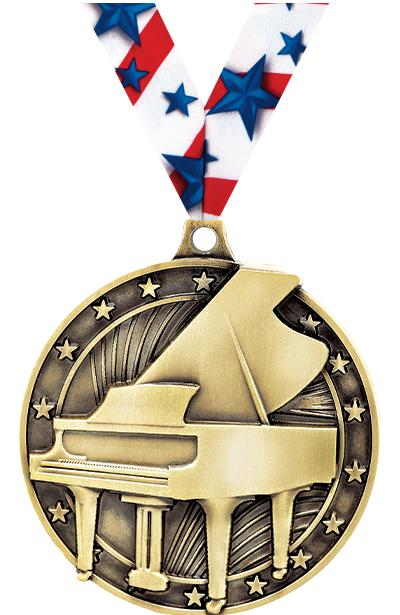 "2"" Grand Piano Medal"