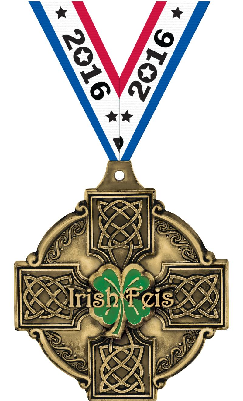 "2"" 3D IRISH FEIS GOLD"