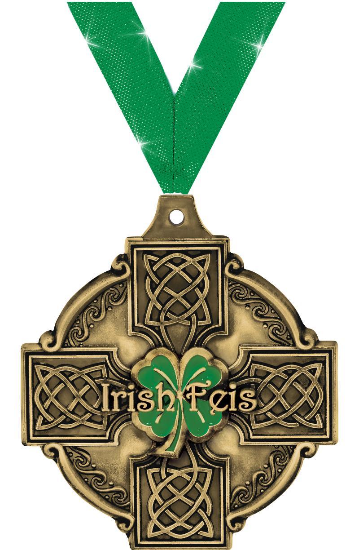 "2"" 3D IRISH FEIS GOLD"