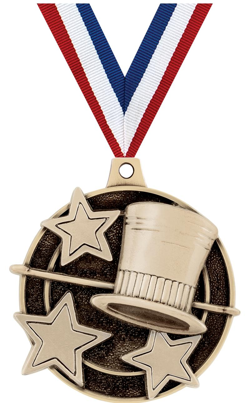 "2"" 3D JAZZ/TAP MEDAL GOLD"