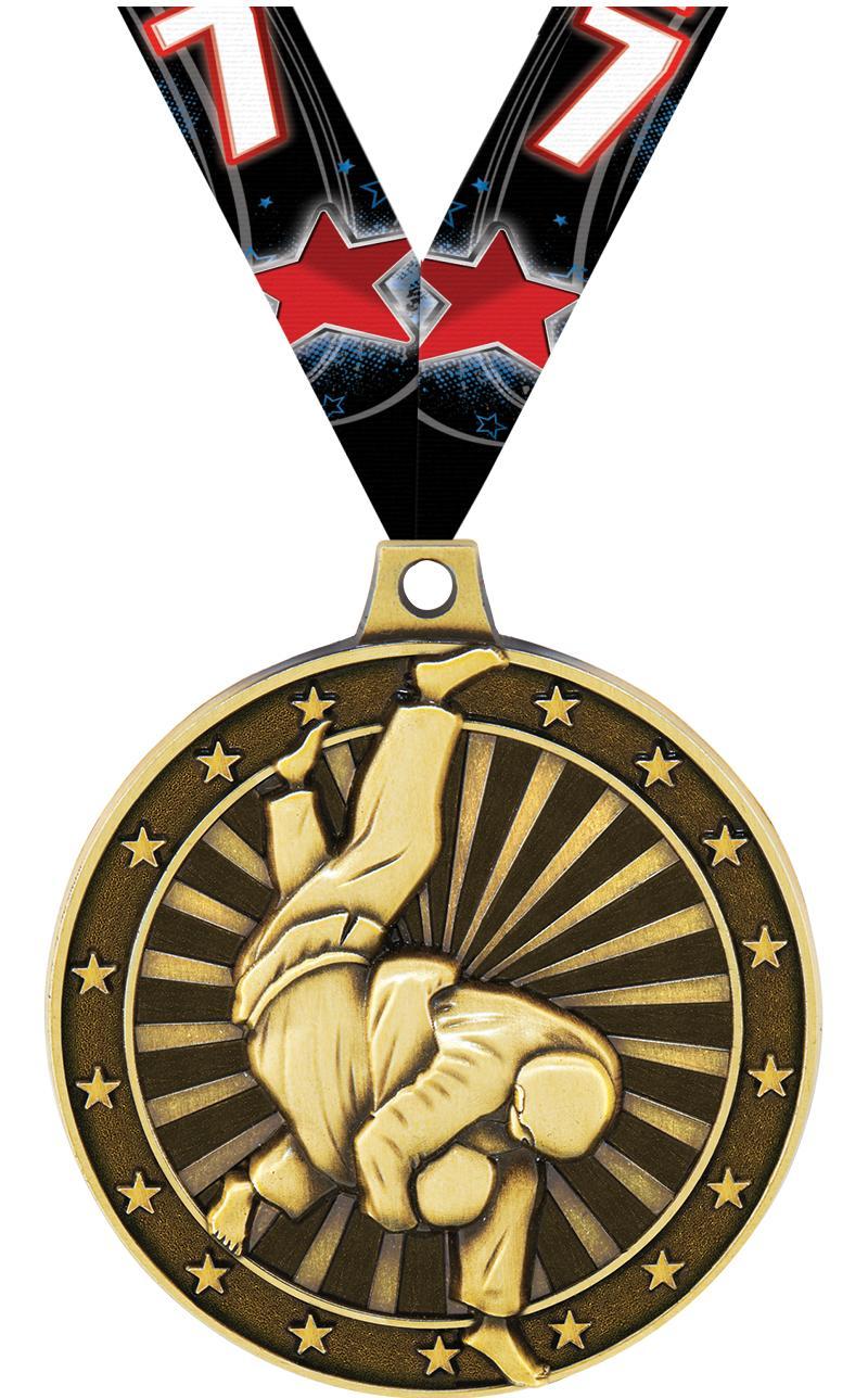 """2"""" 3D Judo Medals"""