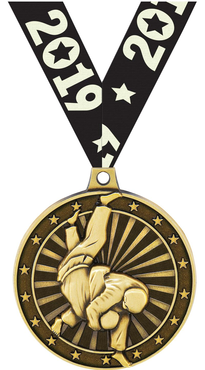 "2""3D JUDO MEDAL GOLD"