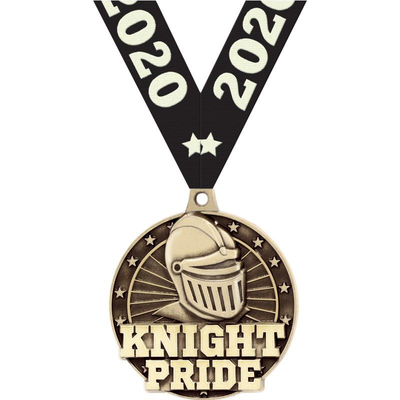 "2"" 3D KNIGHT PRIDE GOLD MEDAL"