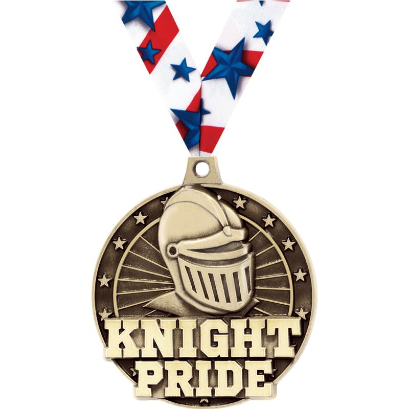"""2"""" 3D KNIGHT PRIDE GOLD MEDAL"""