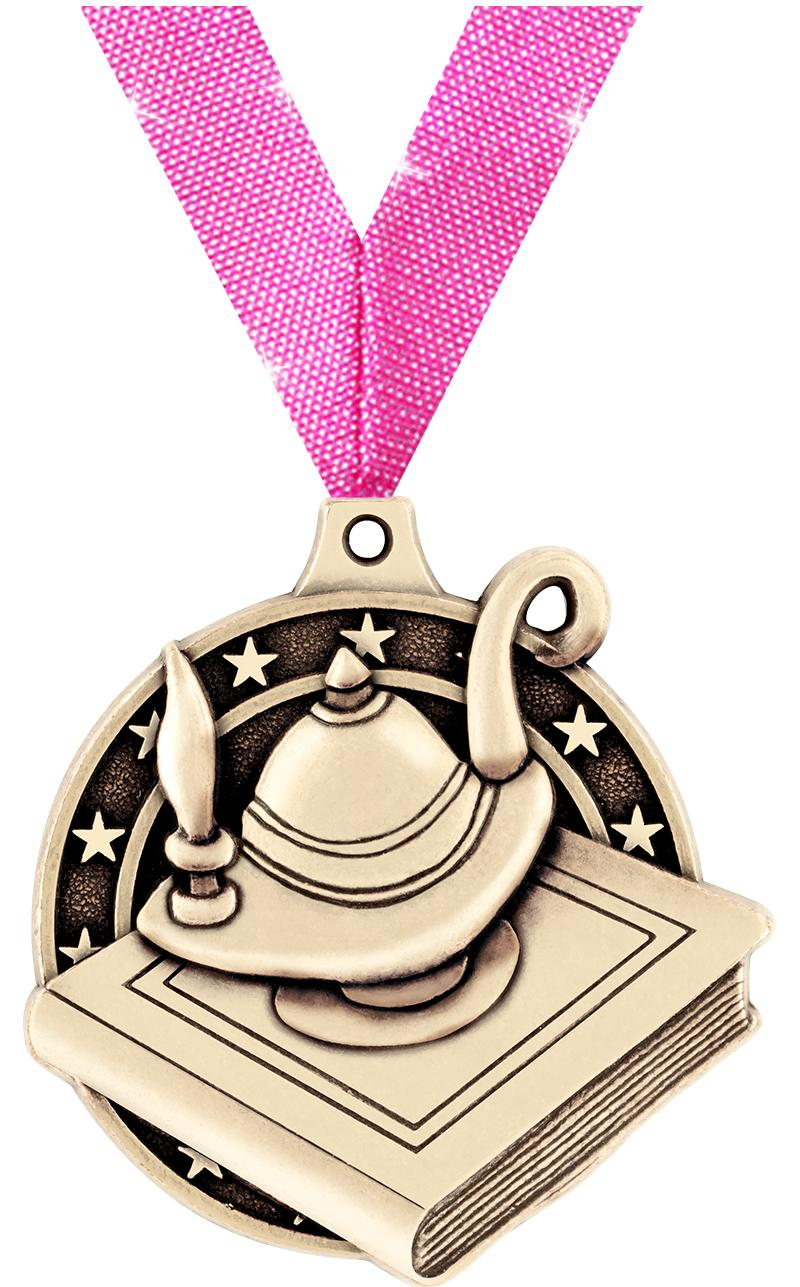 """2"""" Lamp of Learning Medals"""