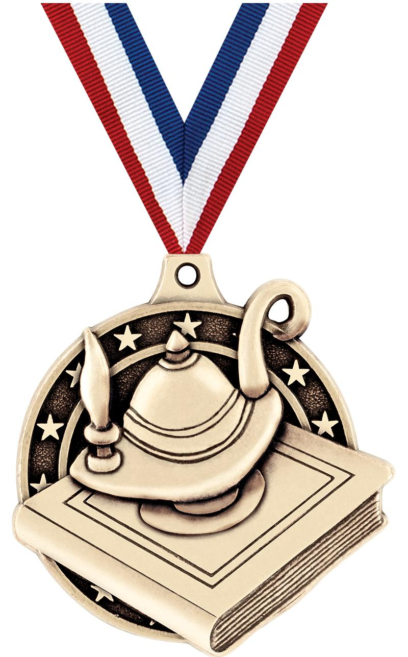 "2"" Lamp of Learning Medals"