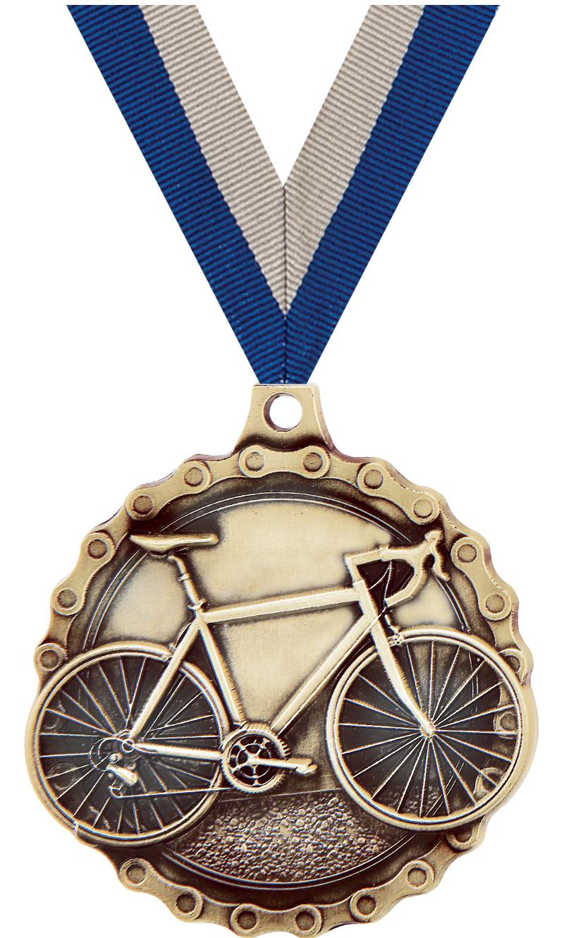 "2"" Road Bike Medal"