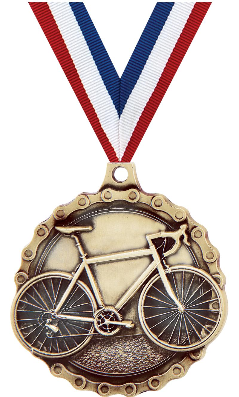 "2"" Road Bike Medal"