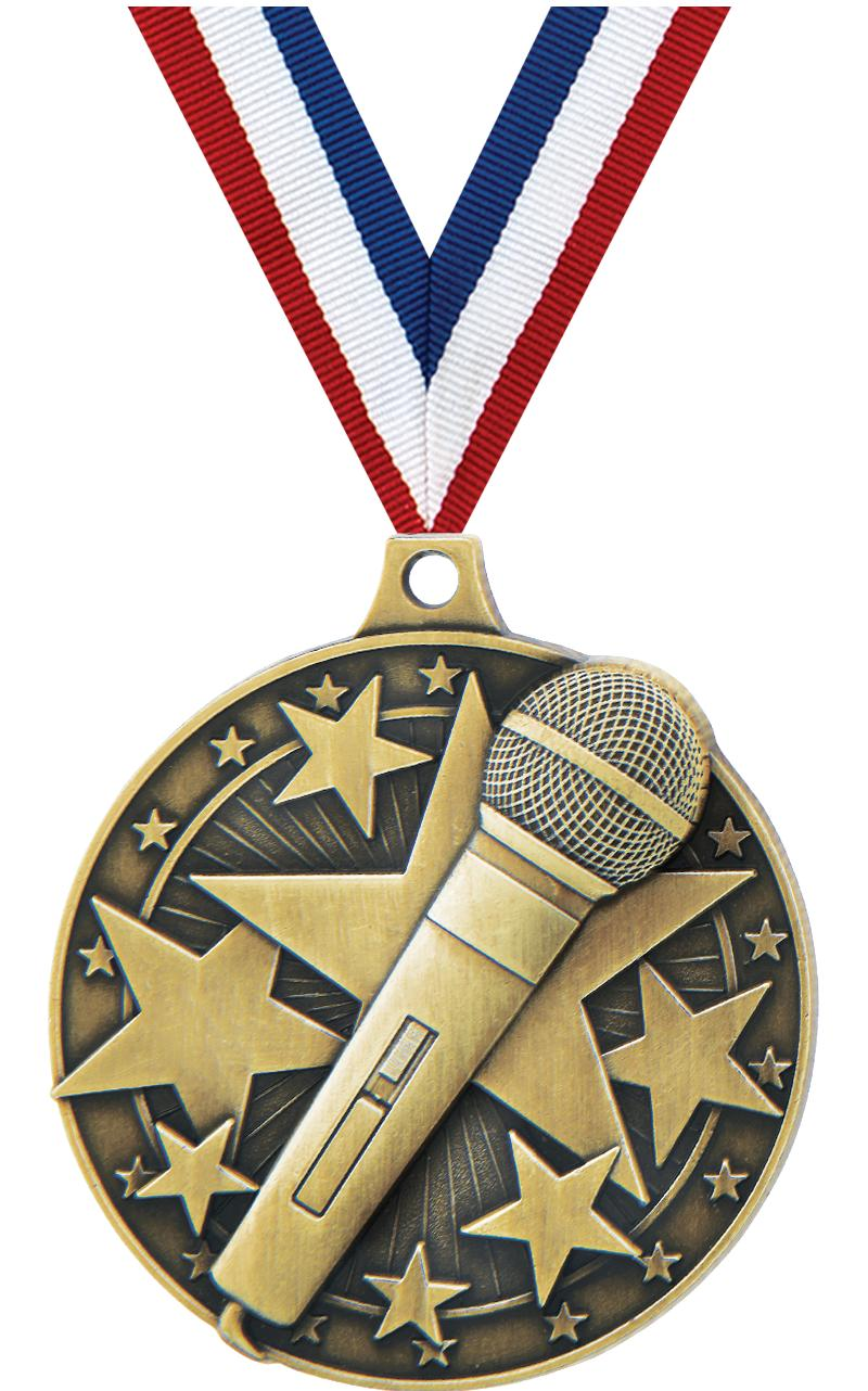 "2"" Microphone Medal"
