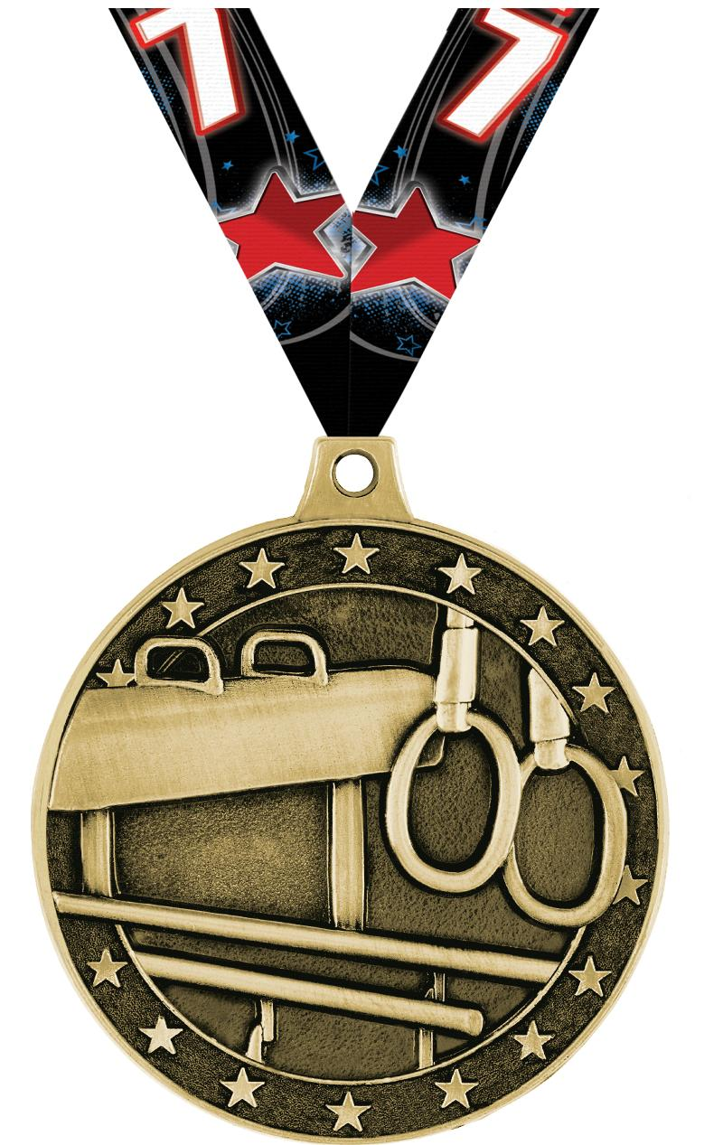 "2"" Male Gym Equipment Medals"
