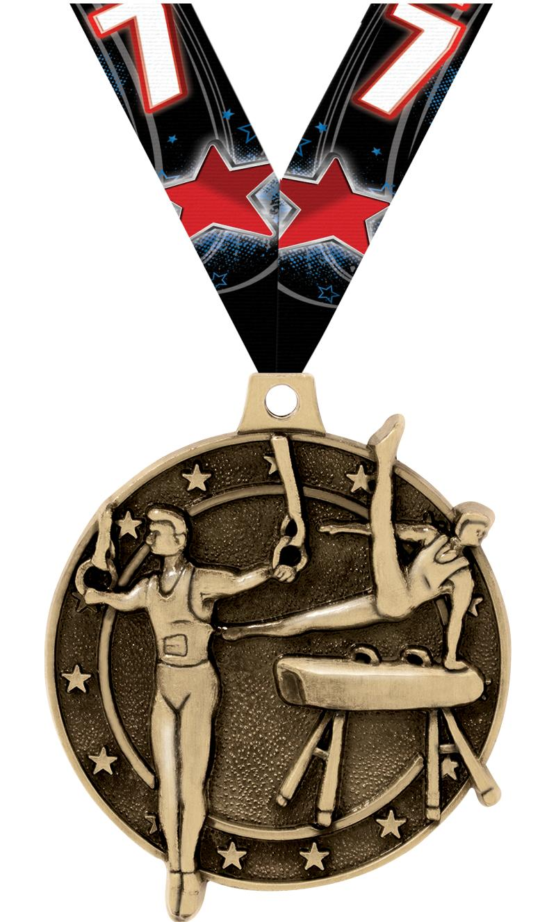 """2"""" Male Gym Medals"""
