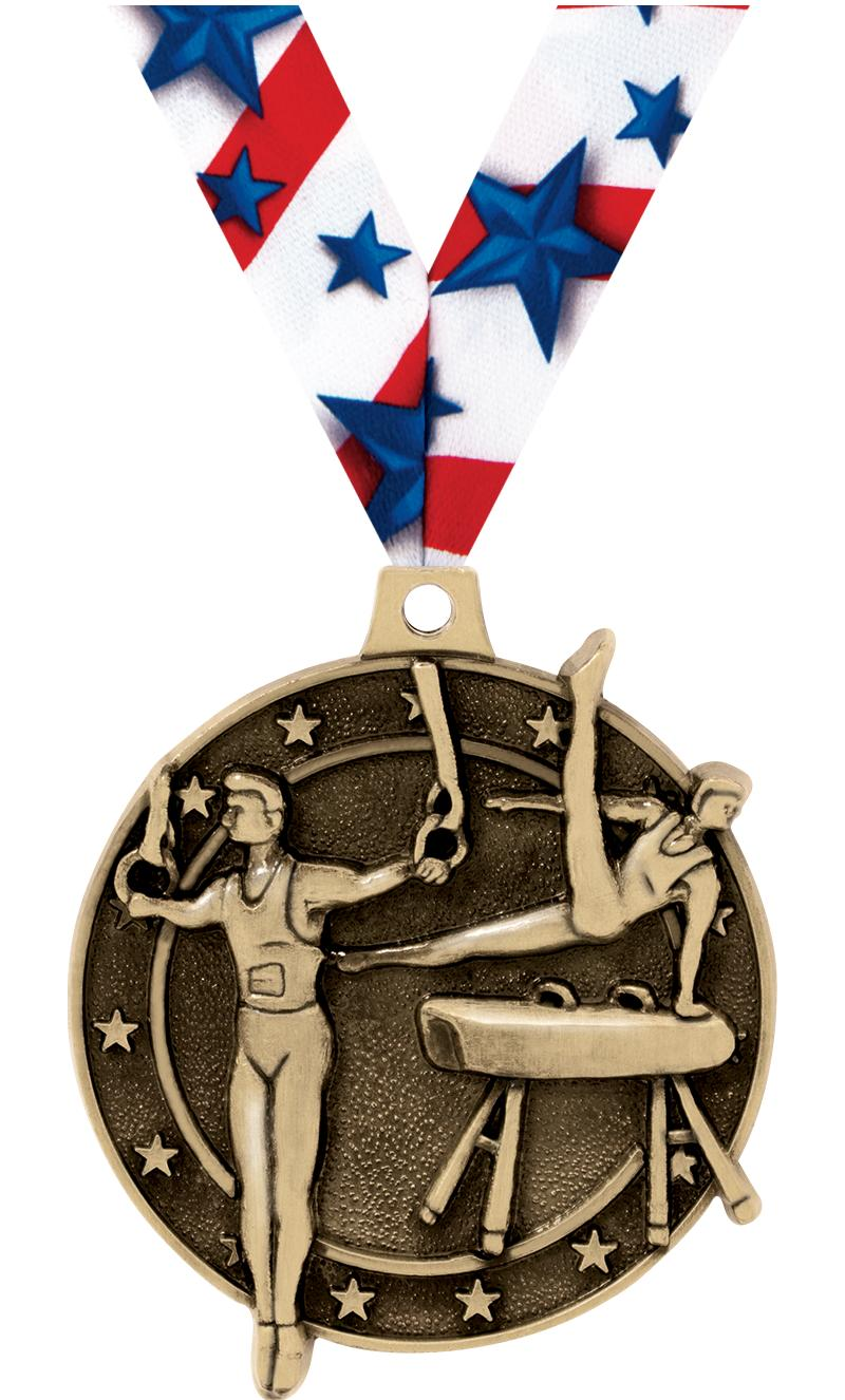 "2"" Male Gym Medals"