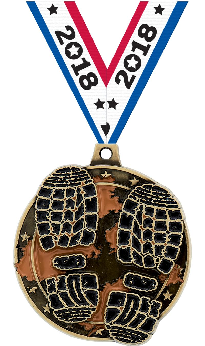 """2"""" MUD RACE MEDAL GOLD"""