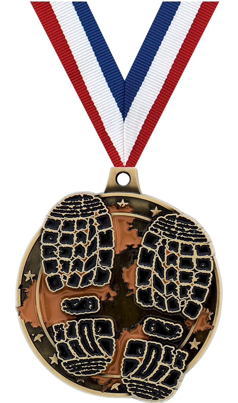 "2"" MUD RACE MEDAL GOLD"