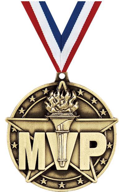 "2"" 3D Diecast Medals   2"" MVP Medals"
