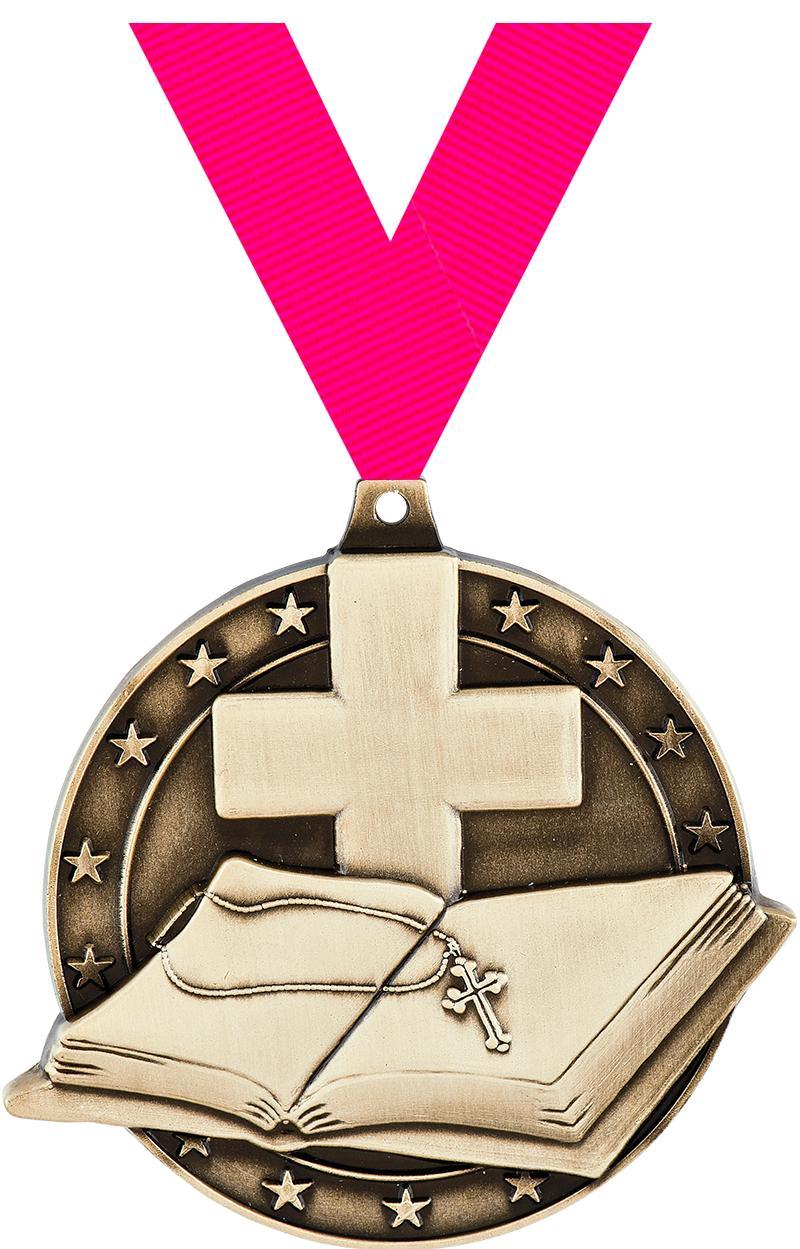 "2"" Open Bible Medals"