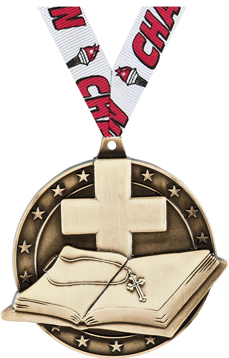 "2"" Open Bible Medals"
