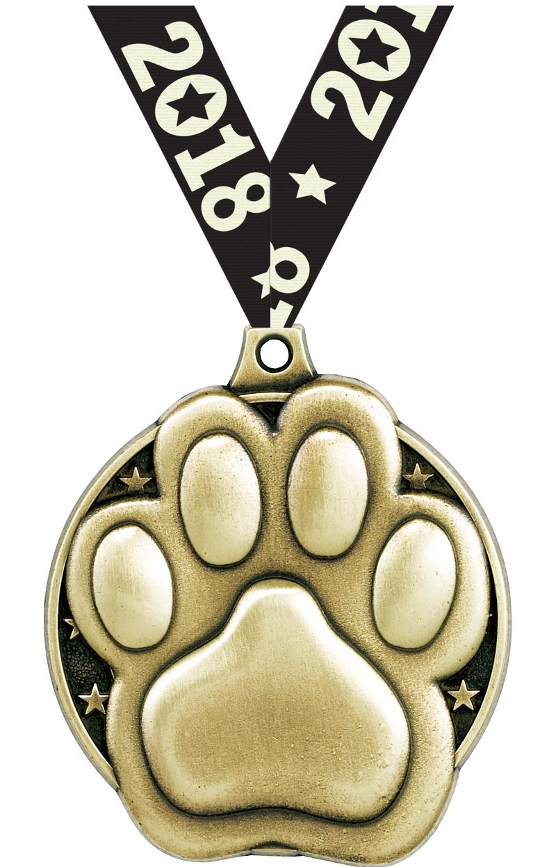 """2"""" Paw Print Medals"""