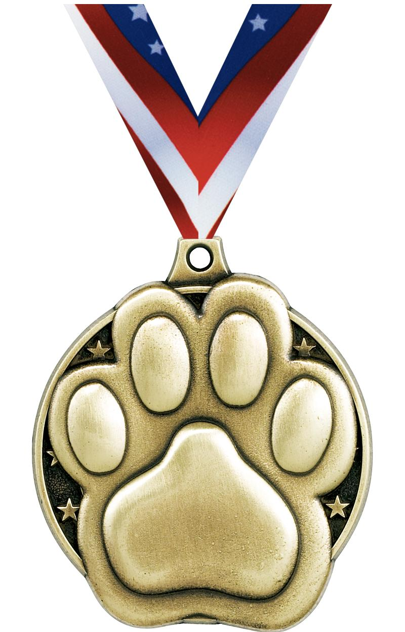 "2"" Paw Print Medals"