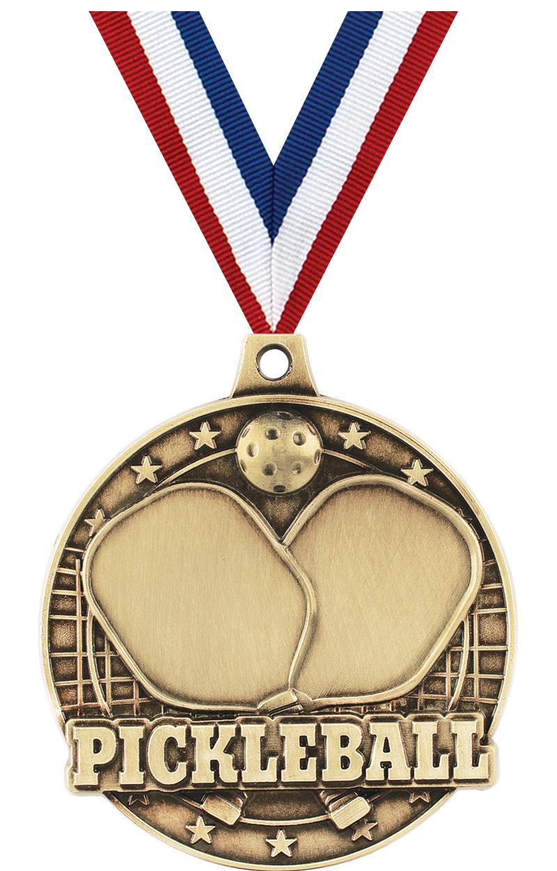 "2"" 3D PICKLEBALL GOLD MEDAL"