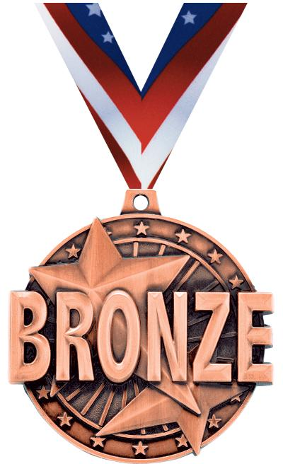 """2"""" """"Bronze"""" Place Medal"""