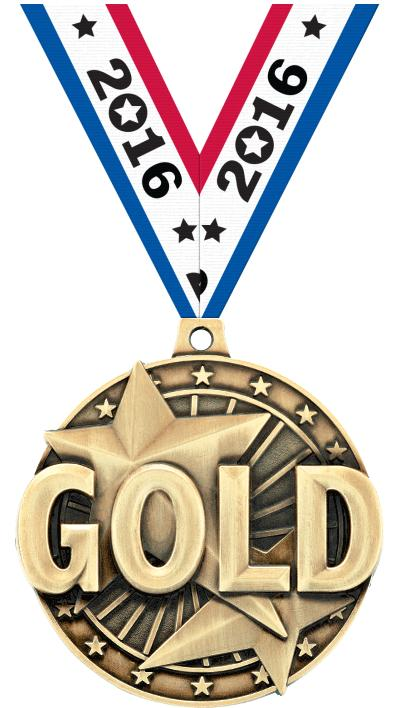 """2"""" """"Gold"""" Place Medal"""