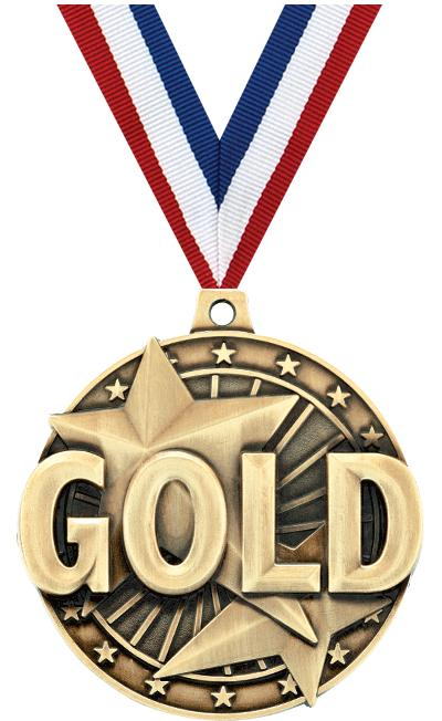 "2"" 3D ""GOLD"" PLACE MEDAL"