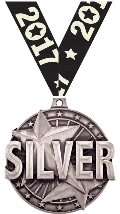 """2"""" """"Silver"""" Place Medal"""