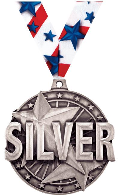 "2"" ""Silver"" Place Medal"