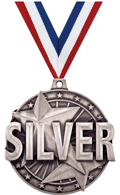 "2"" 3D ""SILVER"" PLACE MEDAL"