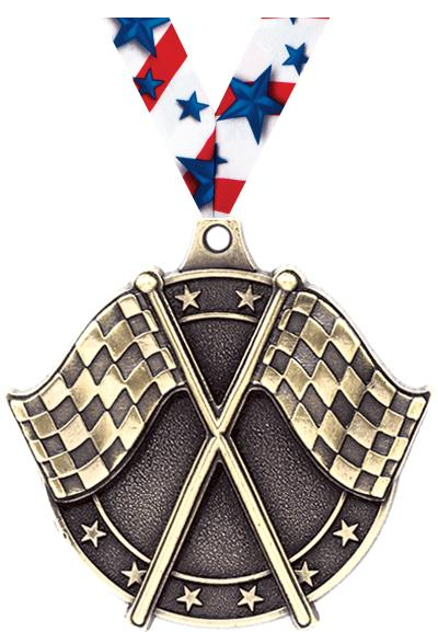 "2"" Crossed Flags Medals"