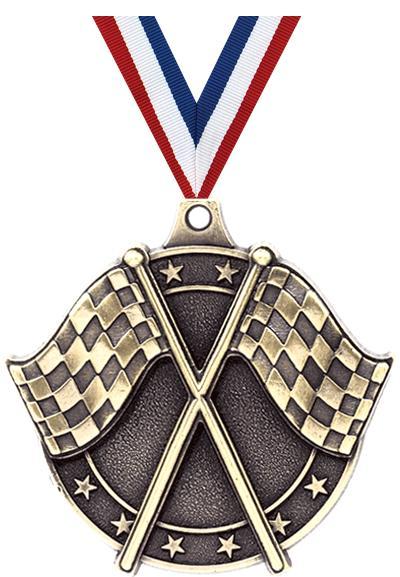 "2"" Crossed Flags Medals"