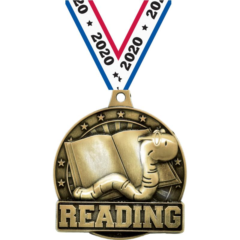 "2"" 3D READING BOOKWORM GD MDL"