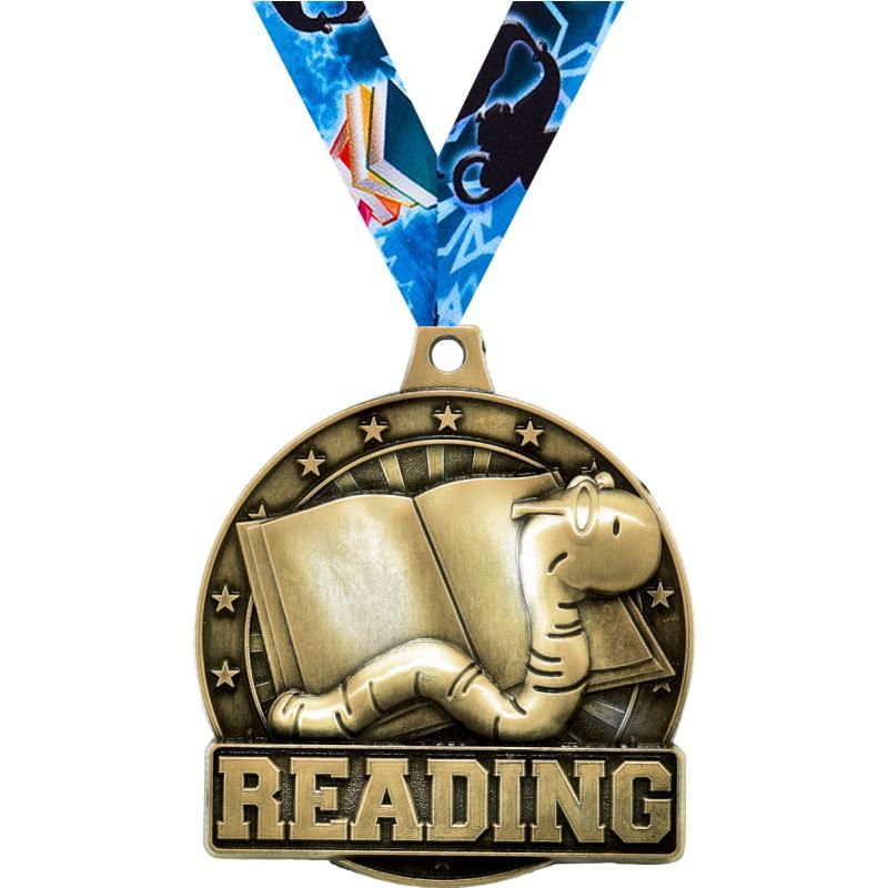 "2"" 3D READING BOOKWORM GD MDL"