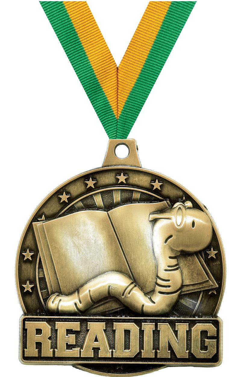 "2"" Reading Medals"