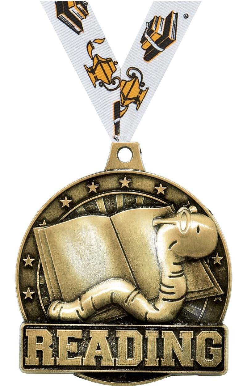 """2"""" Reading Medals"""