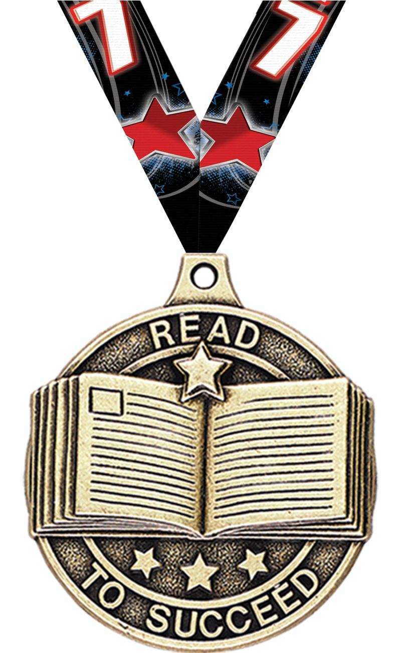 """2"""" Read to Succeed Medals"""