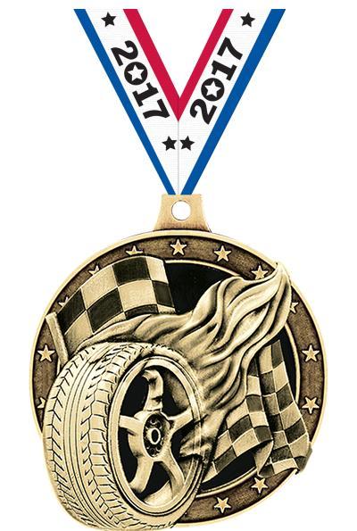 "2"" Racing Tire Medals"