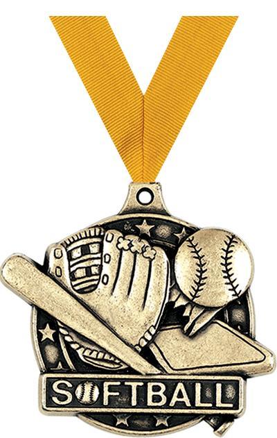 "2"" Softball Medals"