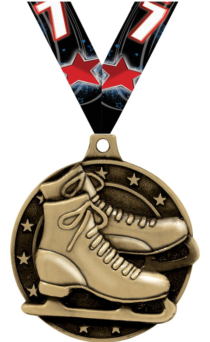 "2"" Ice Skates Medals"