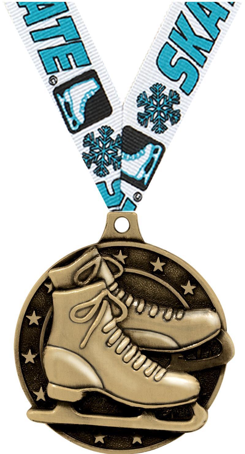 "2"" Ice Skates Medals"