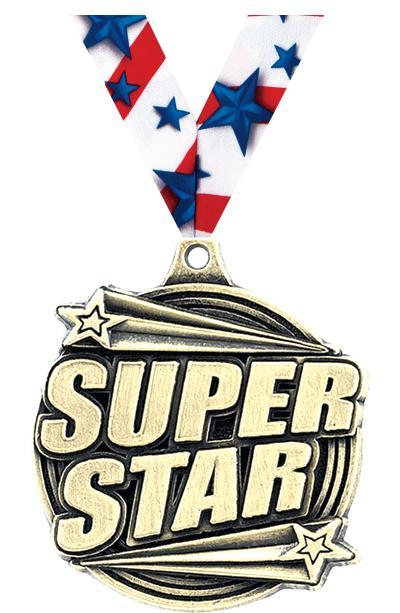 """2"""" Super Star Medals"""