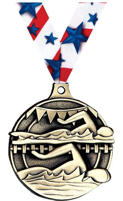"""2"""" Swim Lanes Medals"""